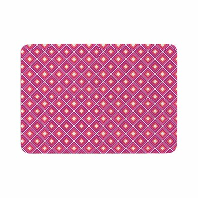 Bright Squares by Candice Singh Memory Foam Bath Mat Color: Pink