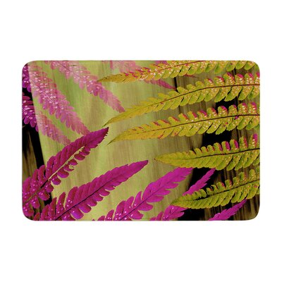 Forest Fern by Alison Coxon Bath Mat Color: Mauve, Size: 17W x 24L