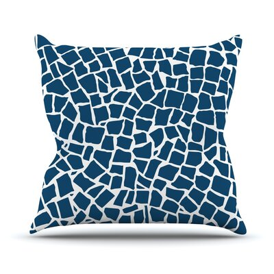 British Mosaic by Project M Outdoor Throw Pillow Color: Navy