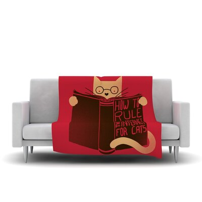 How to Rule The Internet For Cats Fleece Throw Blanket Size: 40 L x 30 W
