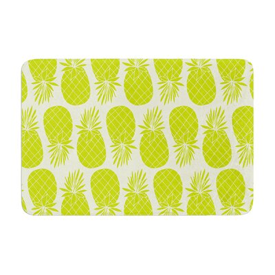 Pinya by Anchobee Bath Mat Color: Lime, Size: 17W x 24L