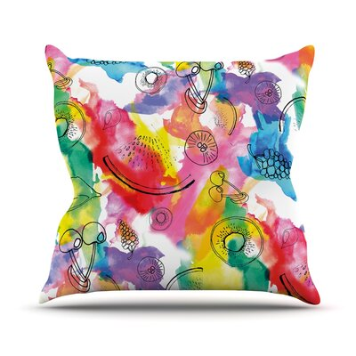 Fruits by Danii Pollehn Throw Pillow Size: 18 H x 18 W x 3 D