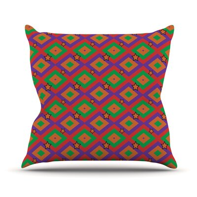 Orange Super Stars by Empire Ruhl Throw Pillow Size: 26 H x 26 W x 5 D