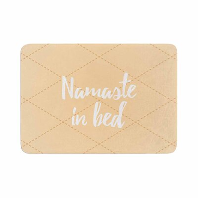 Namaste in Bed Memory Foam Bath Mat Color: Yellow