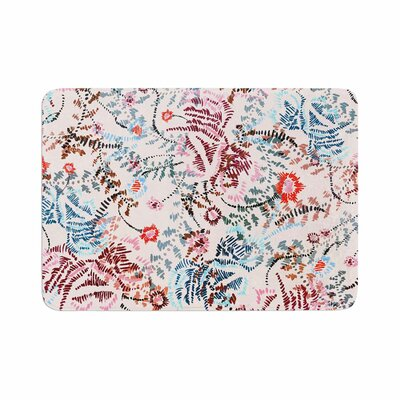 African Romance by Fernanda Sternieri Memory Foam Bath Mat Size: 24 L x 17 W, Color: White