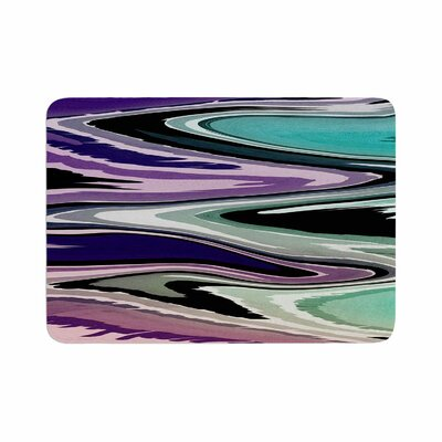 Beach Waves by Nika Martinez Memory Foam Bath Mat Color: Purple, Size: 36 L x 24 W