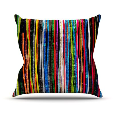 Fancy Stripes by Frederic Levy-Hadida Outdoor Throw Pillow Color: Dark Stripes