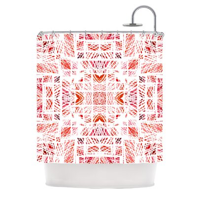 Scandanavian Square by Danii Pollehn Shower Curtain Color: Red