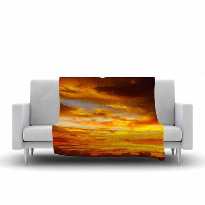 Painted Sunset Fleece Throw Blanket Size: 60 L x 50 W