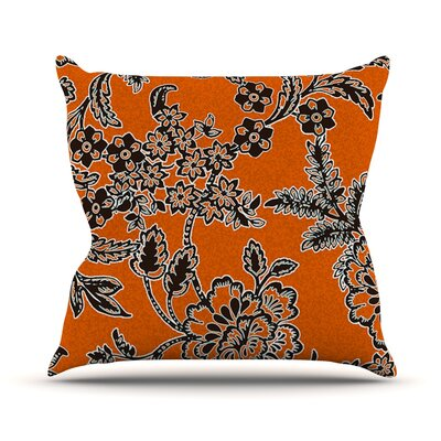 Blossom Outdoor Throw Pillow Color: Orange