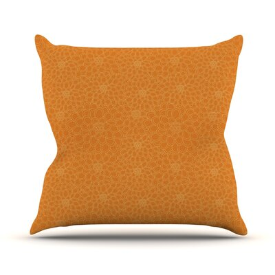 Throw Pillow Size: 16 H x 16 W x 3 D, Color: Orange
