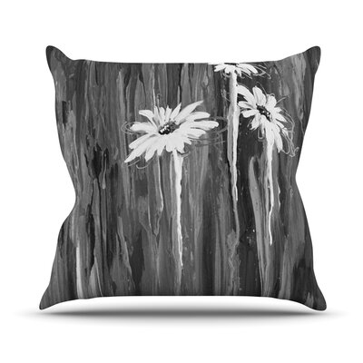 Daises by Brienne Jepkema Outdoor Throw Pillow Color: Black