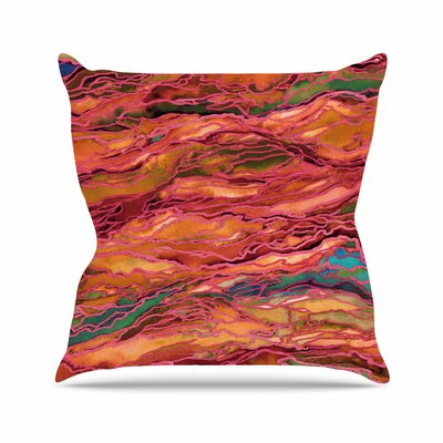 Marble Idea! Throw Pillow Color: Orange / Red, Size: 16 H x 16 W x 6 D