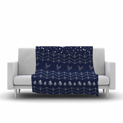 Night Arrows Jungle Throw Blanket Size: 90 L x 90 W
