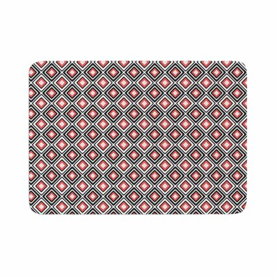 Bright Squares by Candice Singh Memory Foam Bath Mat Color: Coral