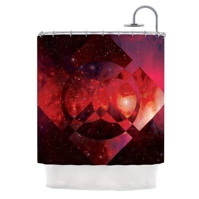 Galactic Radiance by Matt Eklund Shower Curtain Color: Red/Pink