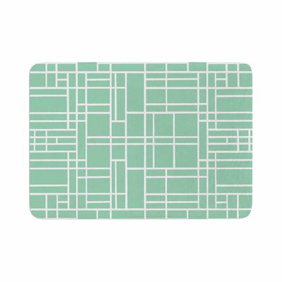 Map Outline by Project M Memory Foam Bath Mat Color: Mint