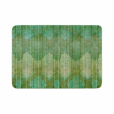 Vintage Ikat by Michelle Drew Memory Foam Bath Mat Size: 24 L x 17 W, Color: Green/Gold