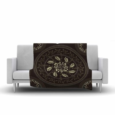 Mandala Fleece Throw Blanket Size: 90 L x 90 W