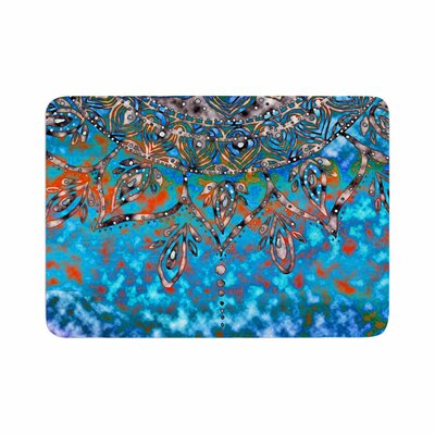 Mandala Art by Li Zamperini Memory Foam Bath Mat Color: Turquoise