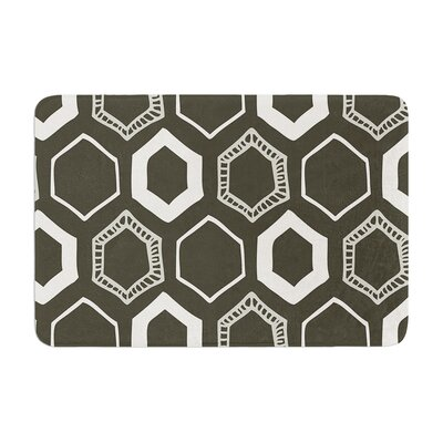 Hexy by Laurie Baars Bath Mat Color: Gray