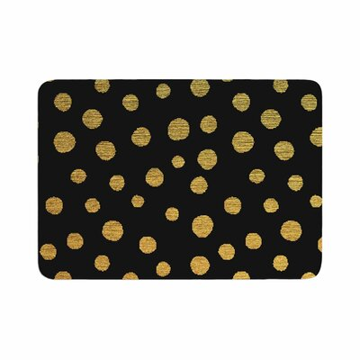 Golden Dots by Nika Martinez Bath Mat Color: Black