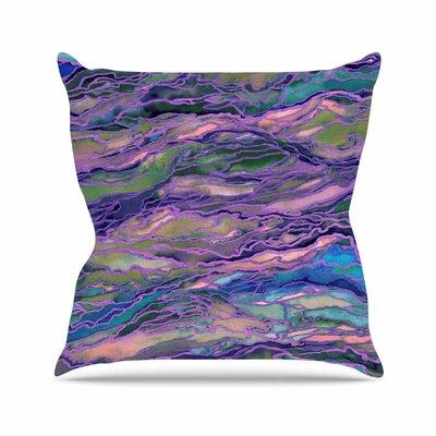 Marble Idea! Throw Pillow Color: Lavender / Pink, Size: 16 H x 16 W x 6 D
