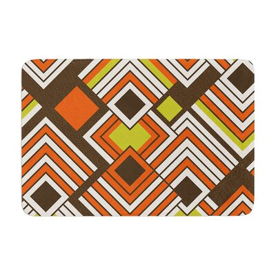 Luca by Jacqueline Milton Bath Mat Color: Coffee, Size: 17W x 24L