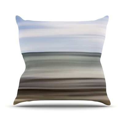 Abstract Beach Throw Pillow Size: 18 H x 18 W x 3 D