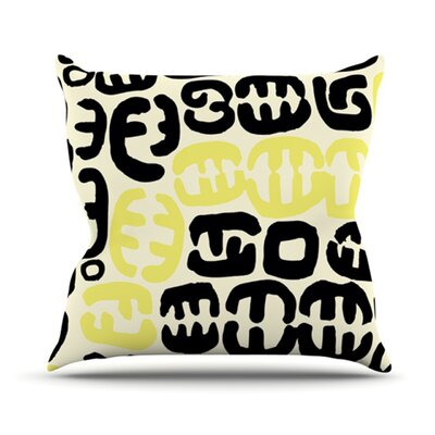 Oliver Outdoor Throw Pillow Color: Yellow