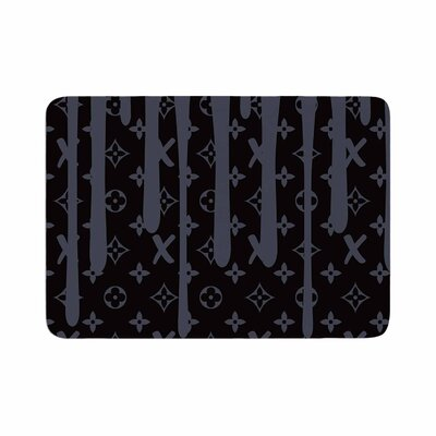 LX Drip by Just L Memory Foam Bath Mat Size: 24 L x 17 W, Color: Black