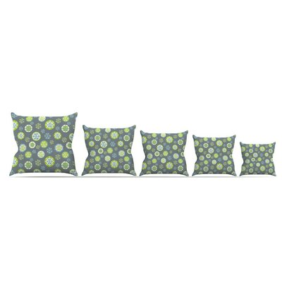 Snowflake Throw Pillow Size: 18 H x 18 W x 3 D, Color: Slate