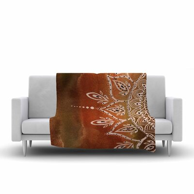 Mandala by Li Zamperini Fleece Blanket Color: Autumn