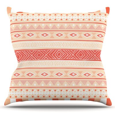 Mojave Outdoor Throw Pillow Color: Orange