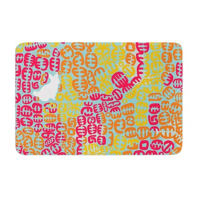 Oliver by Theresa Giolzetti Bath Mat Color: Magenta