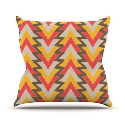 My Triangles Outdoor Throw Pillow Color: Red