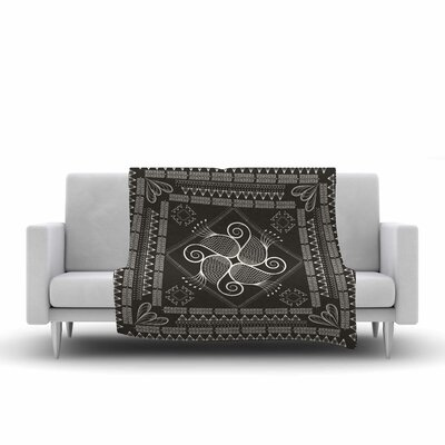 Paisley Into the Dream Throw Blanket Size: 90 L x 90 W, Color: Gray