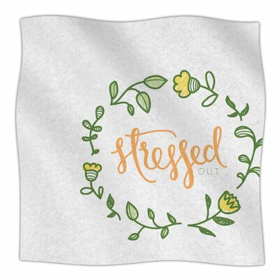 Stressed Out Fleece Throw Blanket Size: 90 L x 90 W