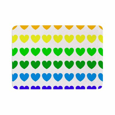 Hearts by NL Designs Memory Foam Bath Mat Color: Rainbow