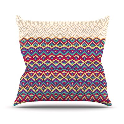 Horizons by Pom Graphic Design Outdoor Throw Pillow Color: Orange