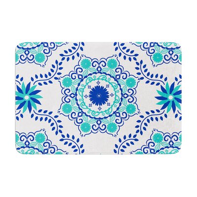 Lets Dance by Anneline Sophia Bath Mat Color: Blue, Size: 24 W x 36 L