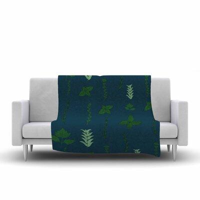 Herb Garden Fleece Throw Blanket Size: 90 L x 90 W