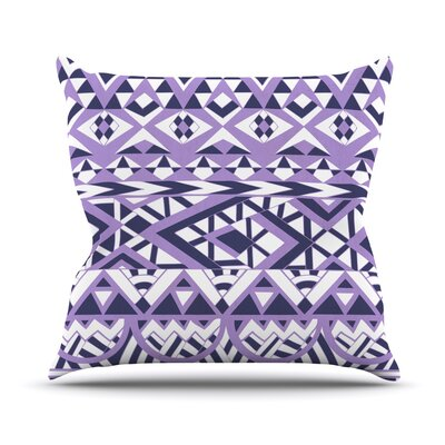 Tribal Simplicity by Pom Graphic Design Outdoor Throw Pillow Color: Purple
