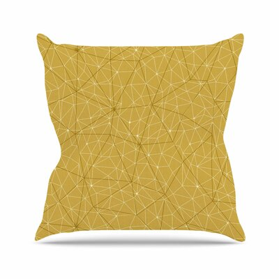 Wanderlust Throw Pillow Color: Yellow, Size: 18 H x 18 W x 6 D