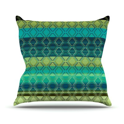 Denin Diamond by Nina May Outdoor Throw Pillow Color: Gradient Blue