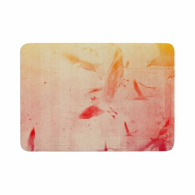 Them Birds by Frederic Levy-Hadida Memory Foam Bath Mat Color: Blue
