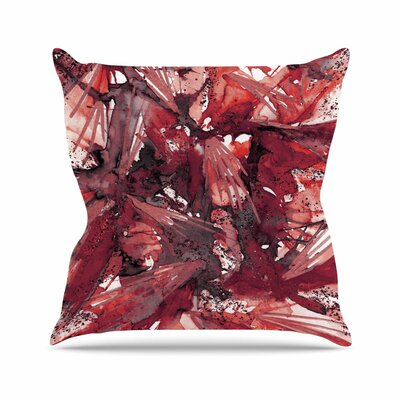 Birds of Prey Throw Pillow Color: Red / Black, Size: 20 H x 20 W x 7 D