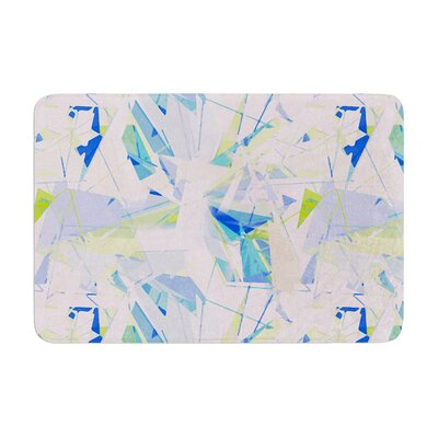 Shatter by Alison Coxon Bath Mat Color: Blue, Size: 24 W x 36 L