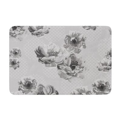 Lace Peony by Pellerina Design Bath Mat Color: Gray, Size: 17W x 24L