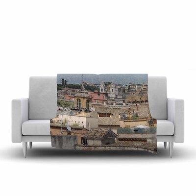 Florence Italy Hillside Fleece Throw Blanket Size: 90 L x 90 W